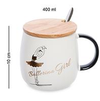 Чашка Балерина 400 мл MUG-296/3. Подарок на 8 марта