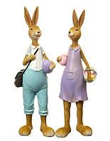 Набор статуэток Семья кроликов 8106-004. Пасхальный декор