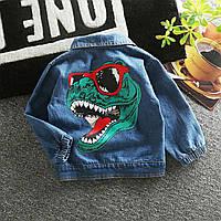 Джинсовая кофта,джинсовка,куртка пиджак,детская одежда,ветровка с динозавром