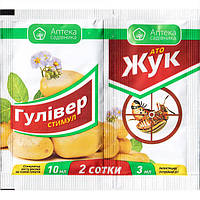 "Инсектицид АТО ""Жук"" + ""Гуливер стимул"" (3+10 мл) от Ukravit (оригинал)"