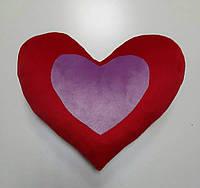 М'яка іграшка-подушка Два серця, 37 см, плюш