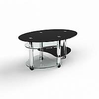 Журнальный стол Брум 950х670х450 стеклянный