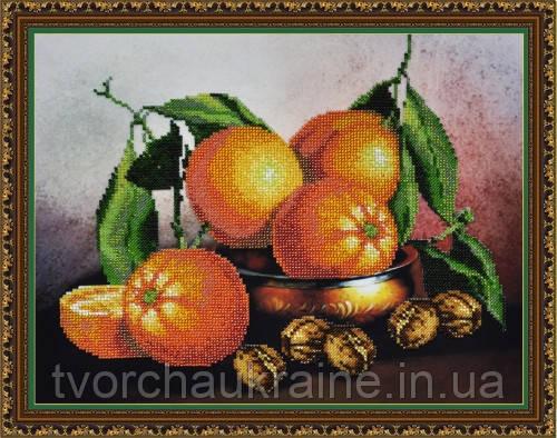 P-217  Натюрморт с апельсинами. Набор для вышивания бисером