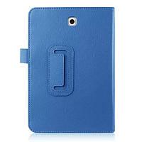 Кожаный чехол книжка для Samsung Galaxy Tab S2 8.0 голубой, фото 1