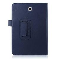 Шкіряний чохол книжка для Samsung Galaxy Tab S2 8.0 синій, фото 1