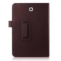 Кожаный чехол книжка для Samsung Galaxy Tab S2 8.0 коричневый, фото 1