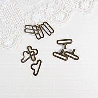 Застежки крючки для галстука-бабочки 18 мм, Бронза