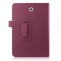 Кожаный чехол книжка для Samsung Galaxy Tab S2 8.0 фиолетовый, фото 1