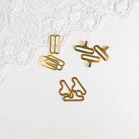 Застежки крючки для галстука-бабочки 18 мм, Золото