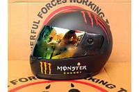 Шлем-интеграл BLD № 825 черный Monster Energy зеркальное стекло