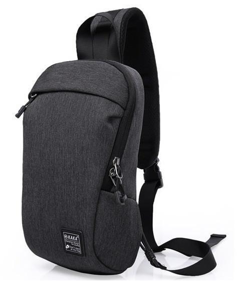 Рюкзак через плече Kaka 99010, темно-сірий