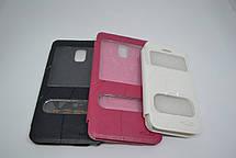"Чехол-книжка ""OSCAR"" SAMSUNG I9500 WHITE (с окошком), фото 2"