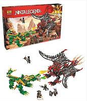 Конструктор Jemlou Ninja Legend 20015 (аналог) Битва драконов 1005 деталей KK