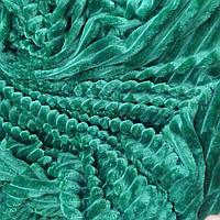 Велюровое покрывало зеленого цвета полоски евро размер 220*220см