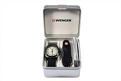 Набор Wenger часы и нож Черный (70474)