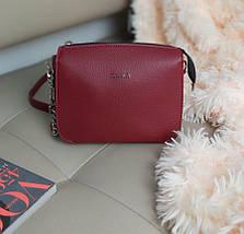 Женская сумка кросс-боди из экокожи 23*18*8 см, фото 3