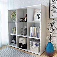 Стелаж для дому, полиця для книг з ДСП на 9 клітинок (4 КОЛЬОРИ) 1072x1078x290 мм Можливі Ваші розміри