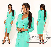 Елегантне приталену сукню в діловому стилі з вирізом на грудях і розрізом спереду. Арт-3222/23, фото 1