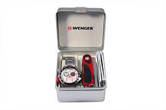 Набор Wenger часы и нож Красно-черный (70797)