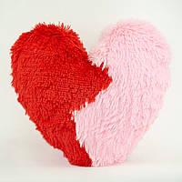"""М'яка іграшка-подушка """"Дві половинки серця"""", 28 см"""
