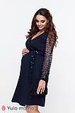 Святкове плаття на запа'х для вагітних та годуючих з оздобленням паєтками, фото 4