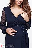 Святкове плаття на запа'х для вагітних та годуючих з оздобленням паєтками, фото 5