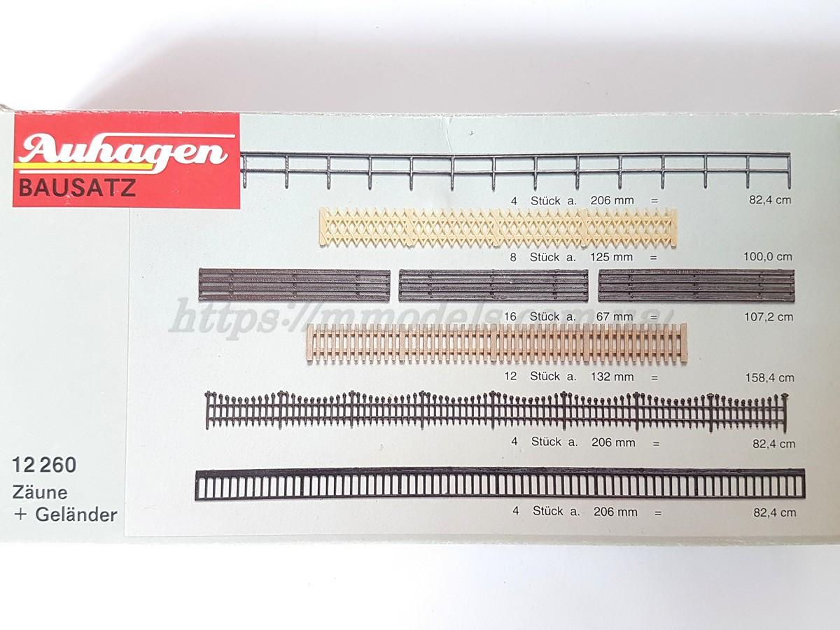 Auhagen 12260 комплект разных видов заборов для масштаба H0, 1/87