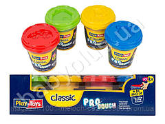 Набор массы для лепки PRO Clasic 4х140 гр..Play Toys РТ 40553