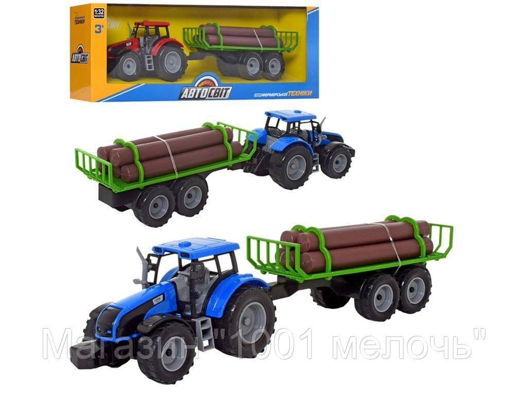 Трактор инерционный с прицепом 43 см. АвтоСвіт AS-2013
