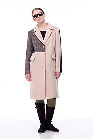 Комбинированное  женское пальто, размер 44-46