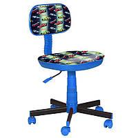 Кресло детское Киндер Машинки (пластик синий)