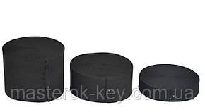 Резинка обувная плотная 15мм цвет Черный Турция