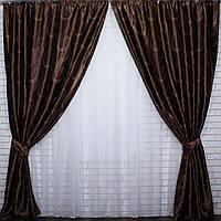 Комплект плотных  штор недорого  с нужной высотой