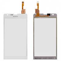 Touchscreen (сенсорный экран) для Sony Xperia SP M35, оригинал (белый)