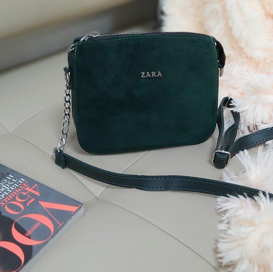 Комбинированная женская сумка кросс-боди 23*18*8 см