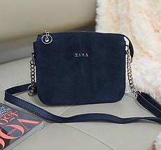Комбинированная женская сумка кросс-боди 23*18*8 см, фото 2