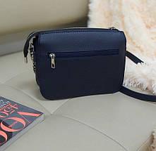 Комбинированная женская сумка кросс-боди 23*18*8 см, фото 3