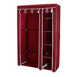 Складной тканевый шкаф Hcx Storage Wardrobe 88105 Коричневый, фото 2