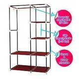Складной тканевый шкаф Hcx Storage Wardrobe 88105 Коричневый, фото 3