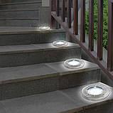 Солнечные уличные светильники Solar Disk Lights 4 шт | Светильник на солнечной батарее, фото 3