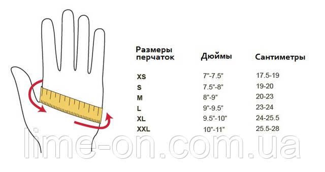 размер руки в дюймах и в сантиментар