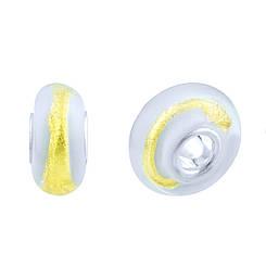 Серебряный шарм pSilverAlex с стеклом Мурано (1765418)