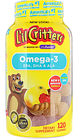L'il Critters, Детская Омега-3, со вкусом малины и лимонада, 120 жевательных конфет