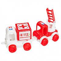 """Маленькие игрушечные машинки Набор авто """"Kid cars"""" скорая 39549"""