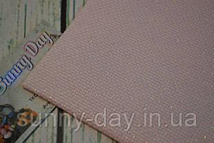 Канва Аида 14, цвет - розовый/люрекс жемчужный  (29х29см)