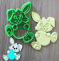 Вырубка для пряника пластиковая с оттиском Пасхальный кролик