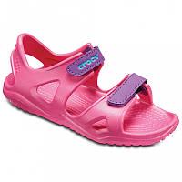 Crocs™ Kids' Swiftwater оригинал США С12 наш 29 (18.3 см) детские летние босоножки сандалии крокс original