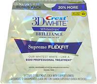 Crest 3D White Whitestrips Brilliance Supreme FlexFit Strong Grip отбеливающие полоски для зубов из США