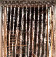 Шторы из деревянных бусин (40 Подвесок).