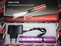 Фонарик BL 1202 + отпугиватель розовый